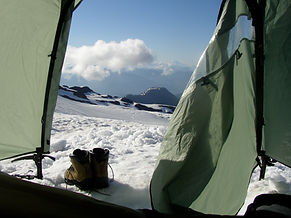 Camping on Mount Baker