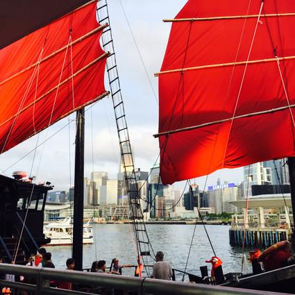 Aqualuna Red Junk ferry