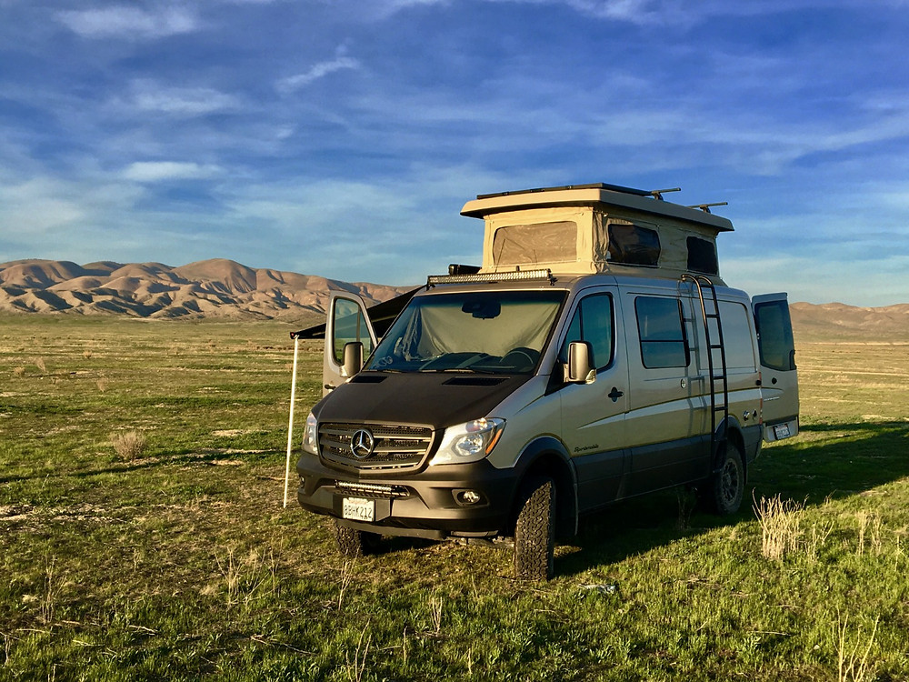 "We named our Mercedes sprinter van ""The Stover Rover"" - Photo: Jen Stover, Paradox Travel  Find all of our road trip itineraries at www.paradoxtravels.com"