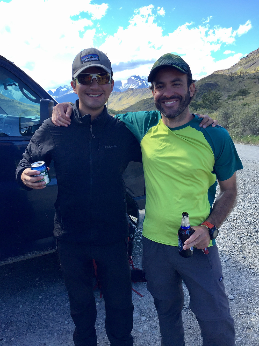 Two of our Explora guides - always smiling, even on the hardest hikes. AND with cold beers waiting for us at the end!