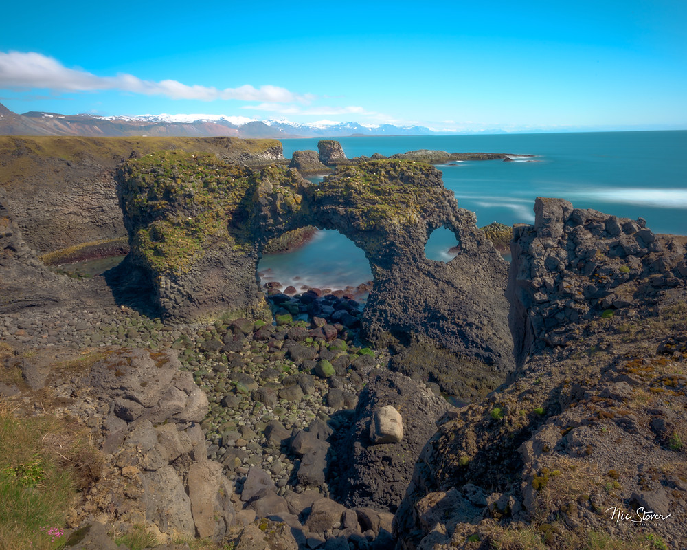 Arnastopi and Gatklettur Arch, Iceland  photo credit: Nic Stover
