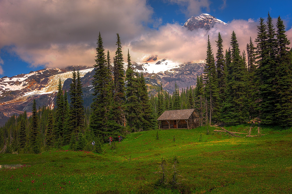 Indian Henry's Cabin, Rainier National Park - Paradox Travel  See complete road trip itinerary at www.paradoxtravels.com    photo courtesy of Nic Stover Photography