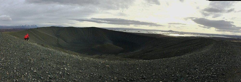 Hverfjall crater, Iceland - one of the largest in the world   photo credit: Jen Stover