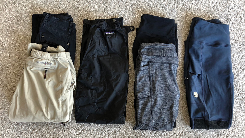 Iceland gear packing list - lower body