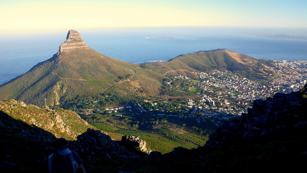 Cape Town, South Africa - Lions' Head Peak from India Vestre hiking route on Table Mountain Photo: Jen Stover, Paradox Travel   See our complete South Africa travel itinerary at www.paradoxtravels.com