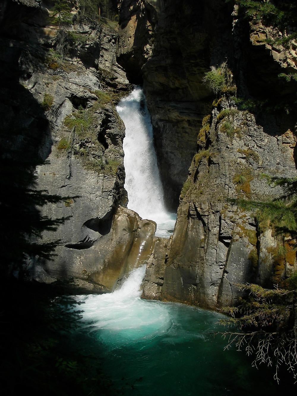 Johnston Canyon Falls, Canada   www.paradoxtravels.com