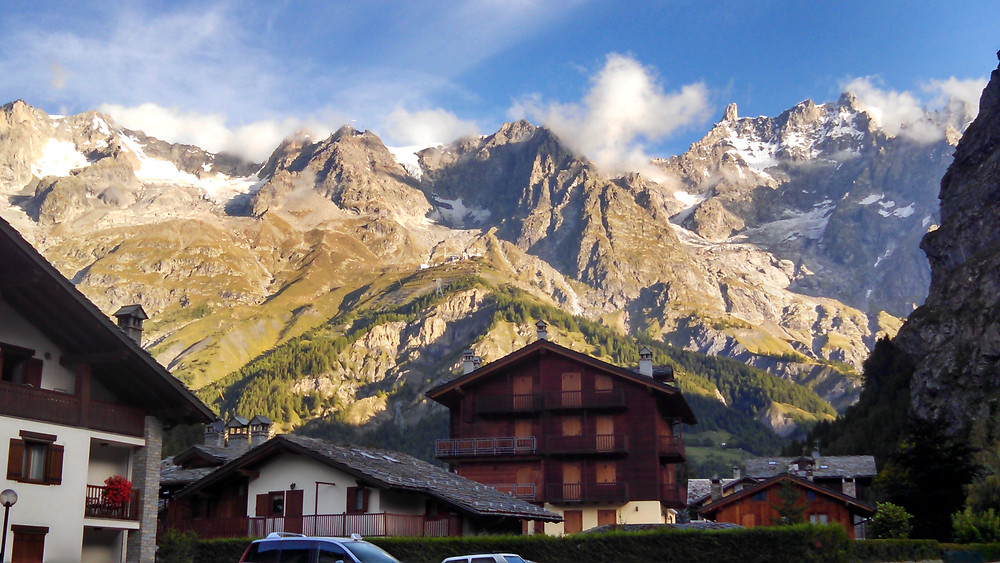 Courmayeur, Italy - an active travel mecca - surrounded by massive peaks