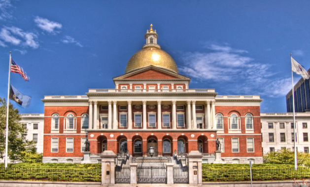 Massachusett's State House - one of the official sites on the Freedom Trail