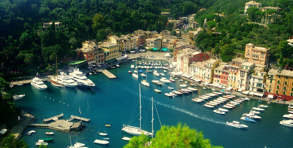 Portofino harbor from Castello Brown - a luxury travel mecca