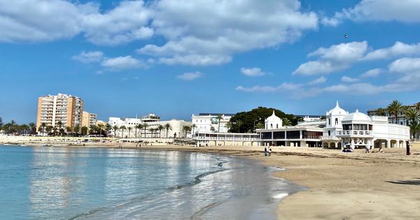 La Caleta Beach, Cadiz see full Southern Spain road trip itinerary at Paradox Travels