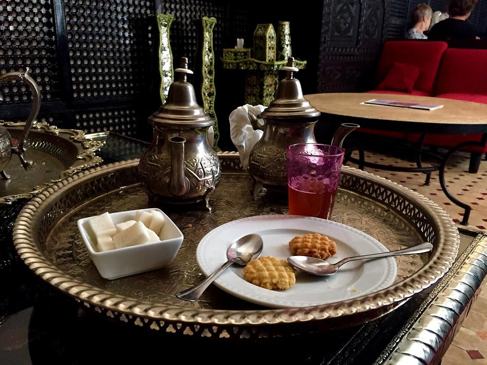 Traditional berber Mint tea