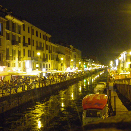 Canal district at night