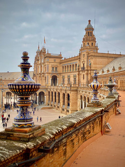 Plaza de Espana - Seville, Spain  see complete Southern Spain road trip itinerary at Paradox Travel