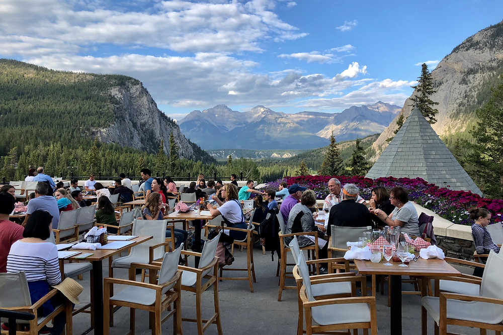 View from the deck of Banff Springs Hotel