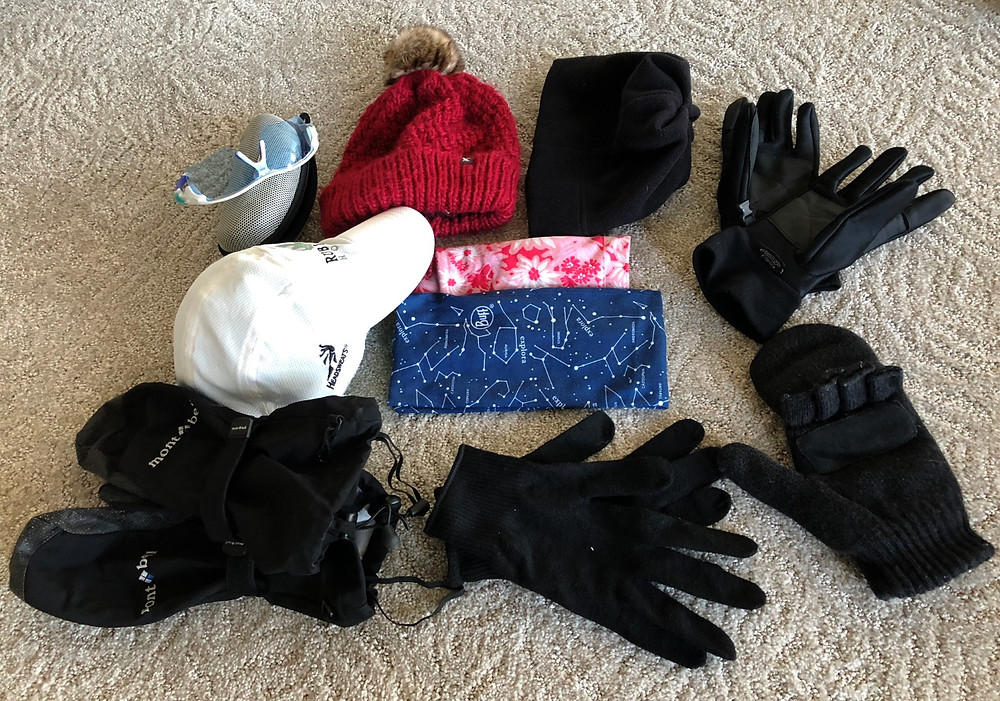 Iceland gear packing list - head and hands, I bring lots of options!