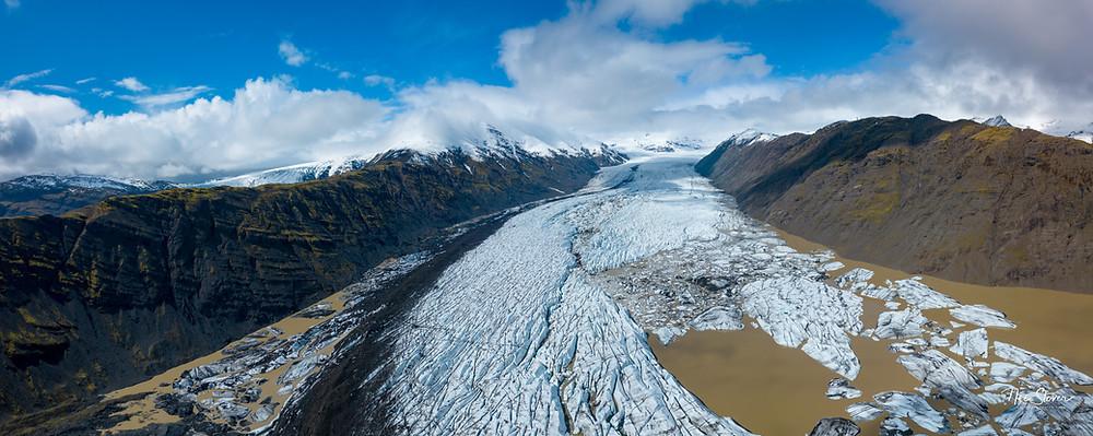Heinabergsjokull, Iceland   Photo credit: drone shot Nic Stover