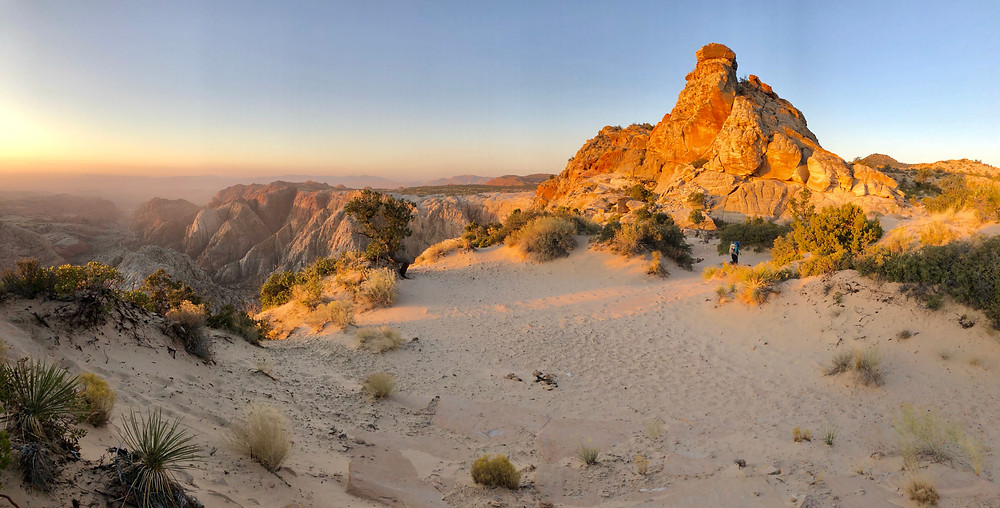 Snow Canyon Overlook at sunrise - See complete road trip itinerary at Paradox Travel   Photo: Jen Stover