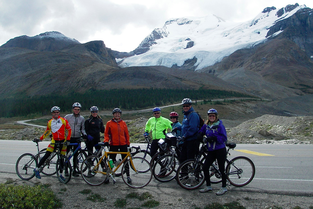 Canadian Rockies road cycling - active travel at its best!