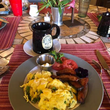 Adobe Grand Villas breakfast