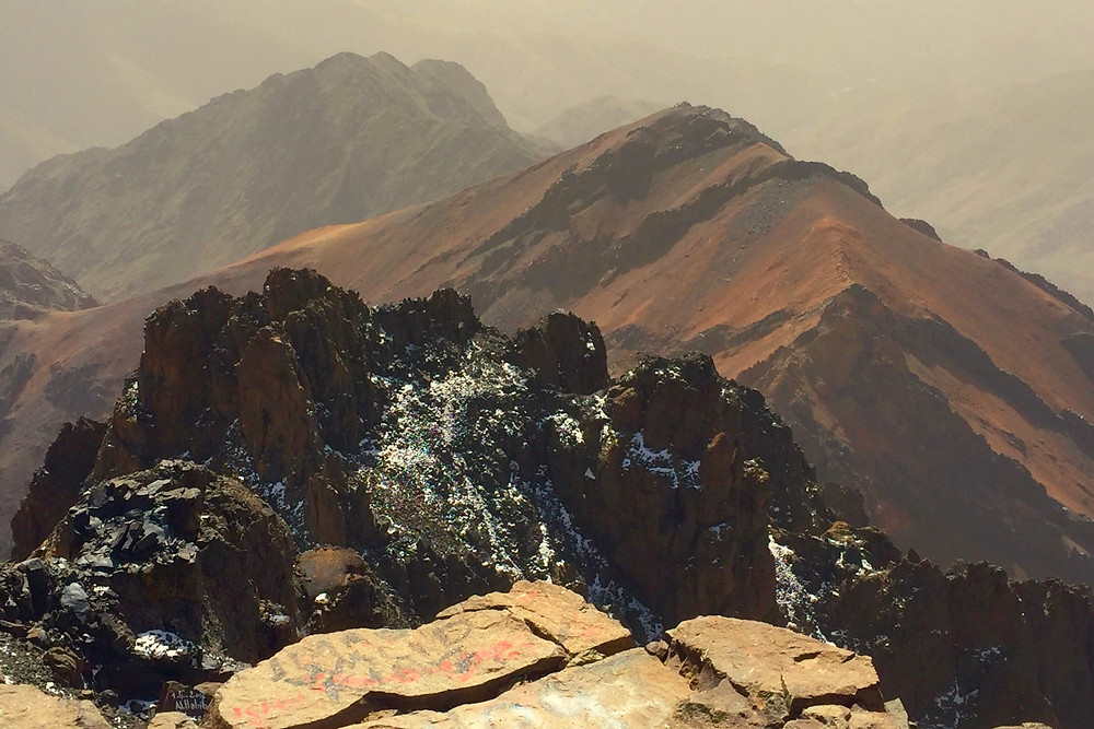 View from the summit of Mount Toubkal - photo credit: www.paradoxtravels.com