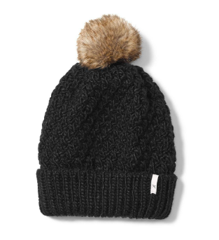 Faux Fur Pom beanie - photo credit: Eddie Bauer