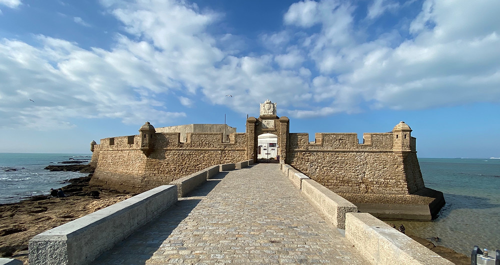 Castle San Sebastian, Cadiz Spain - see complete Southern Spain road trip itinerary at Paradox Travels
