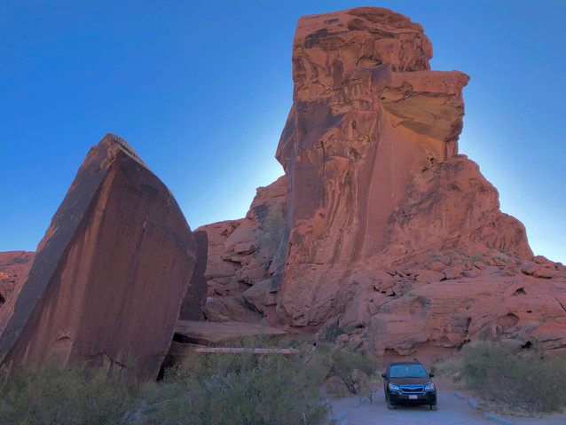 Arch Rock campground, Valley of Fire