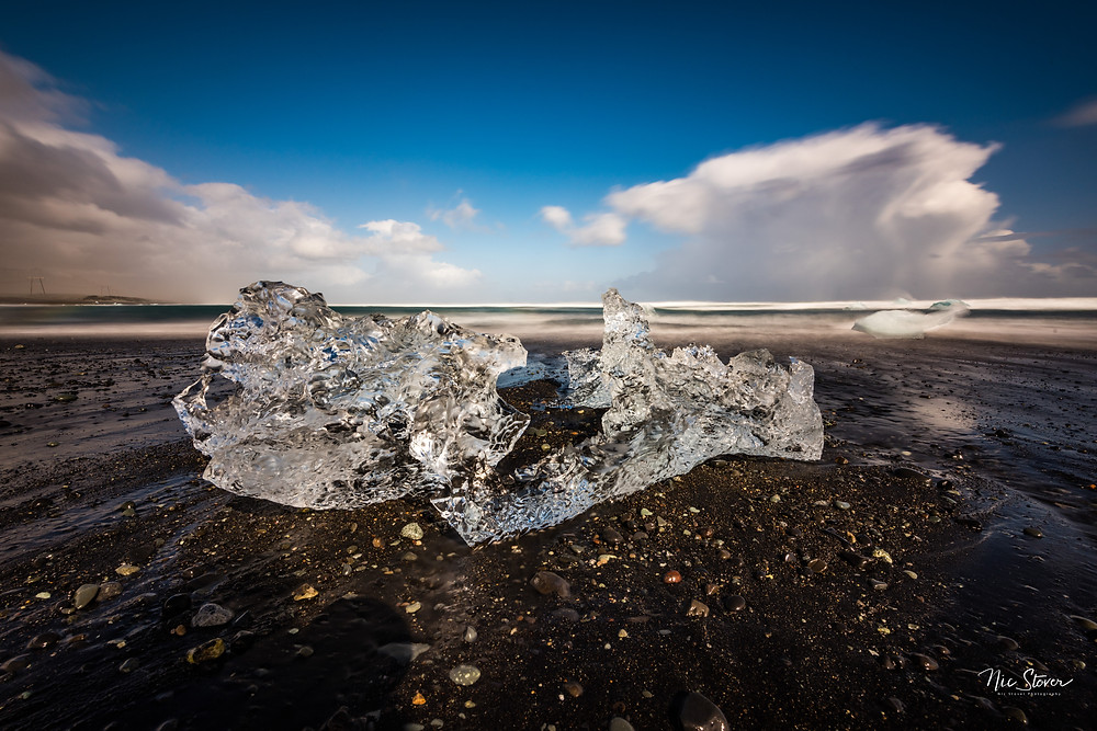 Diamond beach, Iceland  Photocredit: Nic Stover
