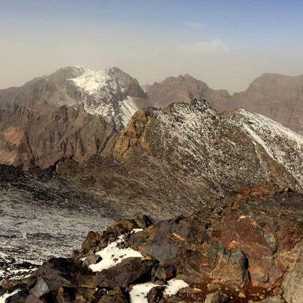 Toubkal summit view