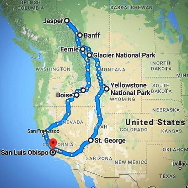 Paradox Travel - Our original planned route - www.paradoxtravel.com
