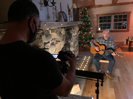 Sights and Sounds of Christmas: Shooting a Music Video!