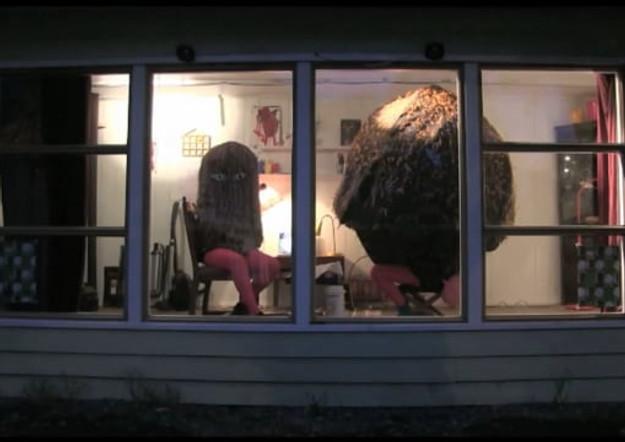 Performance by Jiska Huizing and Regine Stensæth Josefsen Galleri Bokboden October 2014 1 hour, 3 times a day for 4 days. 3:38 min, video documentation