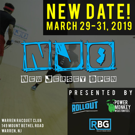 NJO Racquetball Tournament Gets a New Date