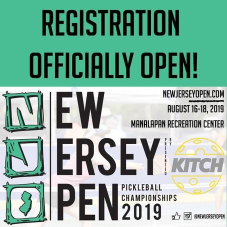 2019 NJO PICKLEBALL REGISTRATION OPEN!