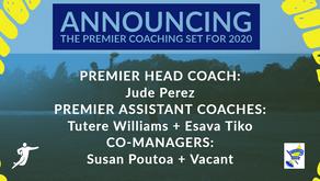 2020 Premier Coaching Announcement!