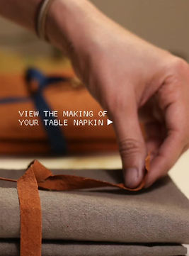the making of table napkin
