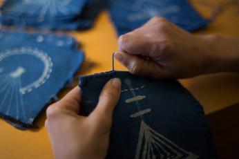 Blanket Hand stitching