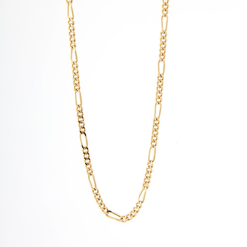 "Figaro Chain, 32"" 18K Yellow Gold 43.7gm"