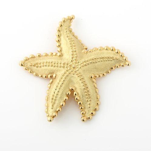 Tiffany & Co. Large Star Fish Brooch 18K