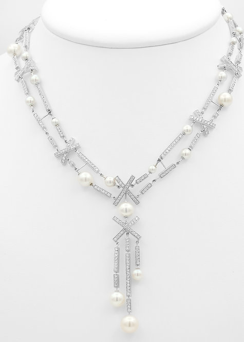 Chanel Matelassé Collection Pearl & Diamond Necklace