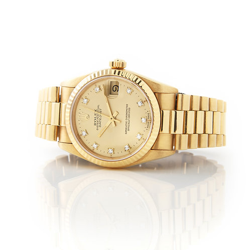 Rolex Mid Size President 18k Yellow Gold 31mm 68278