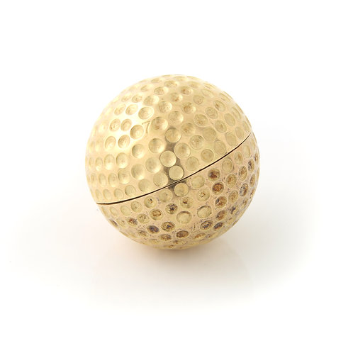 Vintage 18K Gold French, Golf Ball Clock