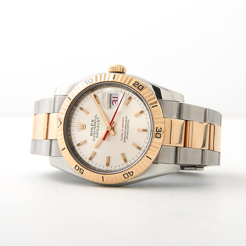 Rolex Turn-o-graph Stainless Steel/Rose Gold Silver Dial