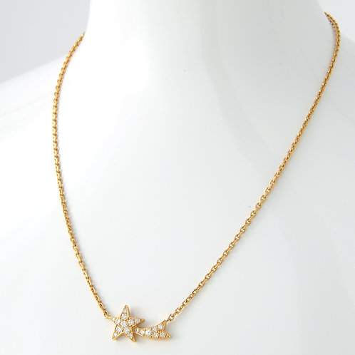FRED Paris Diamond Shooting Star Pendant 18K Yellow Gold