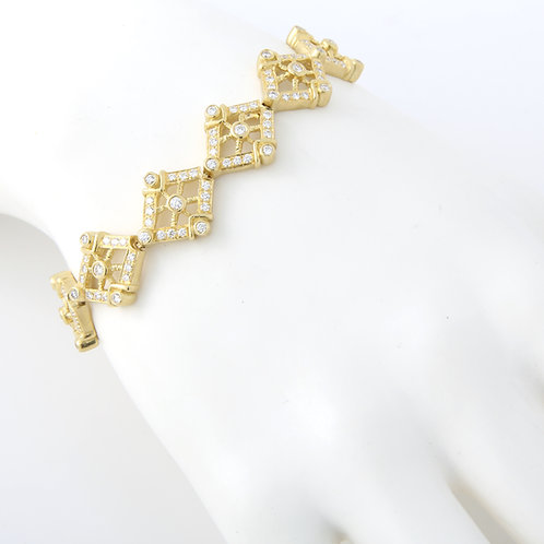 Doris Panos Diamond Bracelet 18K Yellow Gold