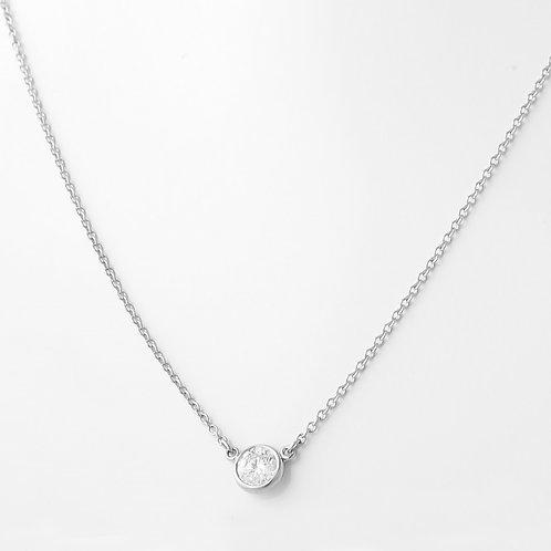 Tiffany & Co. Elsa Perriti Diamond Necklace PLAT 0.20 CT.