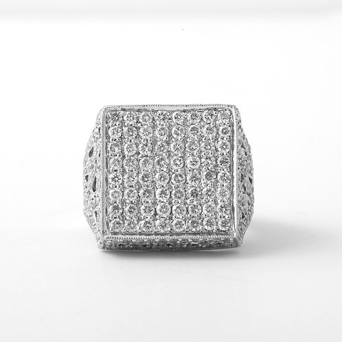 Sonia B, 18K White Gold & Diamond  Statement Ring