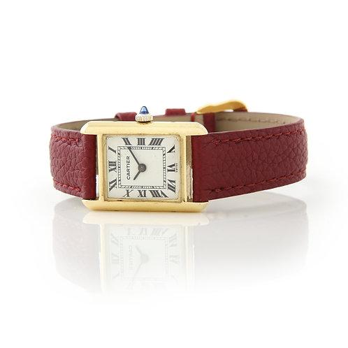 Vintage Cartier Tank Vermeil Ladies Watch, Manual Wind