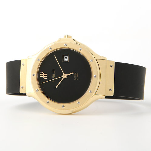 Hublot MDM Ladies Classic Watch 140.10.3, 18K Yellow Gold, Rubber Strap