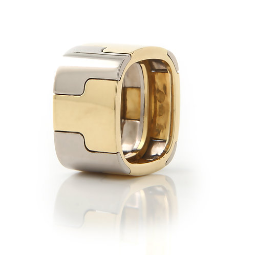 Gubelin, Contemporary, Wide 18k,Two-Tone Band